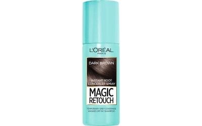 L'Oréal Paris Magic Retouch 75ml Dark Brown Suihkutettava Tyvisävyte