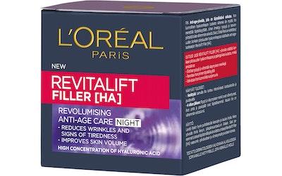 L'Oréal Paris 50ml Revitalift Filler anti-age yövoide