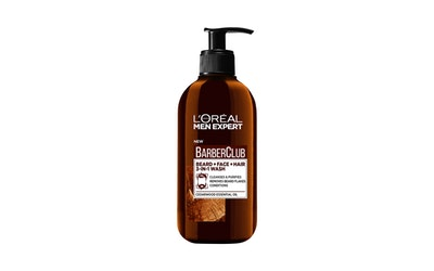 L'Oréal Paris Men Expert Barber Club 200ml 3-In-1 Wash Parralle, kasvoille ja hiuksille