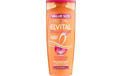 L'Oréal Paris Elvital 400ml Dream Length Restoring shampoo pitkille, vaurioituneille hiuksille
