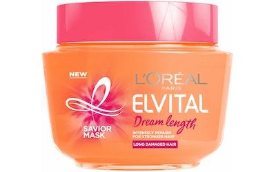 L'Oréal Paris Elvital 300ml Dream Length Savior Mask hiusnaamio pitkille, vaurioituneille hiuksille