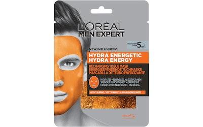 L'Oréal Paris Men Expert Hydra Energetic 30g virkistävä kangasnaamio