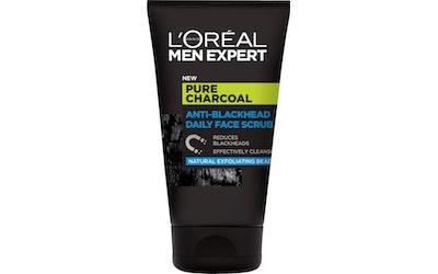 L'Oréal Paris Men Expert Pure Charcoal kasvojenkuorintavoide 100ml mustapäitä vastaan