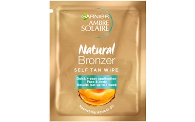 Garnier Ambre Solaire 5,6ml Natural Bronzer Wipes itseruskettavat liinat - kuva