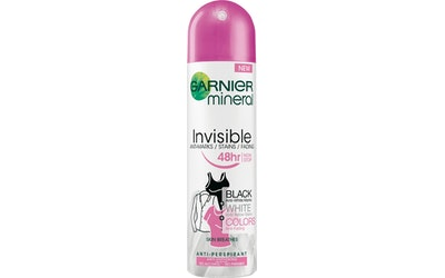 Garnier deo spray 150ml Mineral Woman Invisible Black, White&Colors