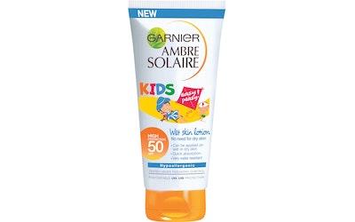 Garnier Ambre Solaire Kids Wet Skin sk50+ aurinkosuojaemulsio lapsille 150ml märälle iholle
