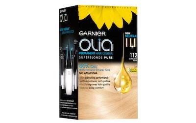 Garnier Olia  ultravaalentava kestoväri 112 Super Light Pearl Blond Erittäin kirkas helmenvaalea