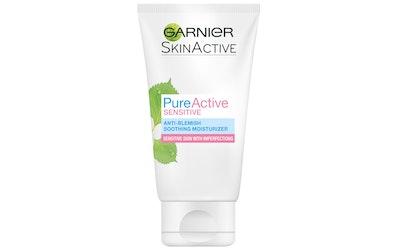Garnier Skin Active Pure Active Sensitive kosteusvoide 50ml hoitava, epäpuhtauksia vastaan