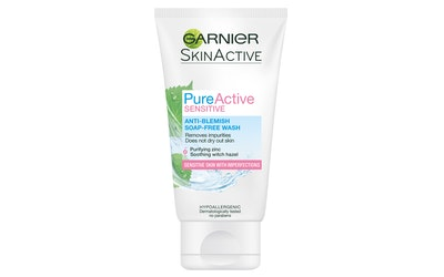 Garnier Skin Active Pure Active Sensitive puhdistusgeeli 150ml