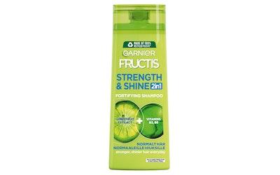 Garnier Fructis shampoo 400ml Strength & Shine 2in1 normaaleille hiuksille