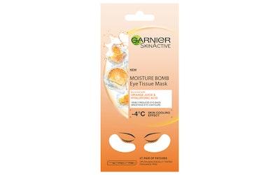 Garnier Skin Active Moisture Bomb Eye Tissue Mask 6g Orange Juice silmänalusnaamio, silmäpusseista v