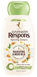 Garnier Respons shampoo 250ml Nourishing Almond Milk kosteutusta kaipaaville hiuksille