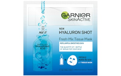 Garnier Skin Active Fresh-Mix Tissue Mask 33g Replumping Shot With Hyaluronic Acid kasvonaamio