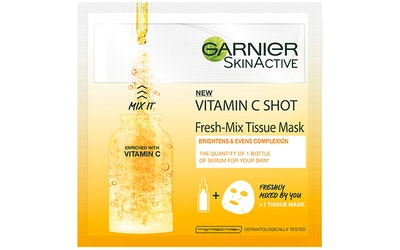 Garnier Skin Active Fresh-Mix Tissue Mask 33g Glow Shot With Vitamin Cg kasvonaamio