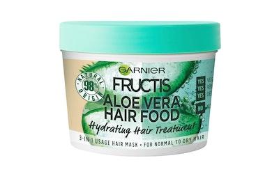Garnier Fructis Hair Food Aloe Vera hiusnaamio normaaleille ja kuiville hiuksille 390ml - kuva