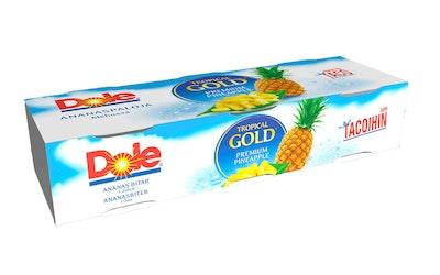 Dole Tropical Gold pizzaan ja tacoihin sopivia pieniä ananaspaloja omassa mehussa 3x227g/139g
