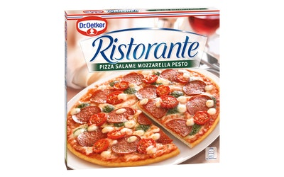 Dr. Oetker Ristorante Salame Mozzarella Pesto Pizza 380g pakaste