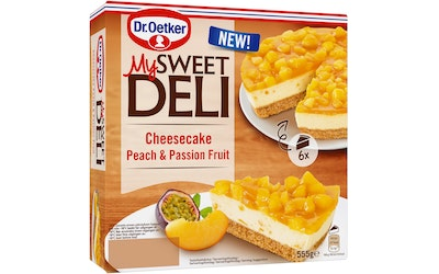 Dr. Oetker My Sweet Deli peach passionfruit cheesecake 555g pakaste
