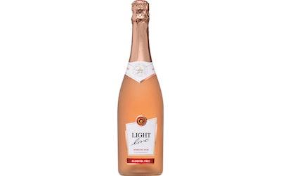 Light Live 0,75l Rosé alkoholiton kuohuviini