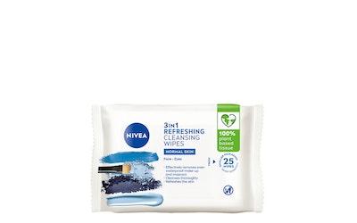 Nivea 3-in-1 refreshing wipes puhdistusliinat 25kpl