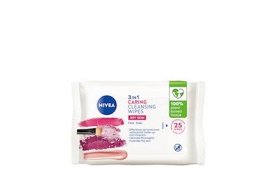 Nivea 3-in-1 gentle wipes puhdistusliinat 25kpl
