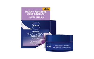 Nivea essentials 24h moisture boost + soothe yövoide 50ml herkkä iho