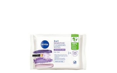 Nivea Daily Essentials Sensitive Cleansing Wipes puhdistusliinat 25kpl