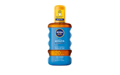 NIVEA SUN 200ml Protect & Bronze Tan Activating Protecting Oil Spray SK 20 -aurinkosuojaöljy#