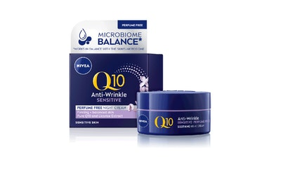Nivea yövoide 50ml Q10 POWER Anti-Wrinkle + Sensitive Skin