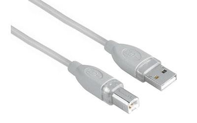 Hama USB A-B-kaapeli 1,8 m harmaa