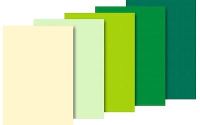 Silkkipaperi 50 x 70 cm, 20 g, vihreä lajitelma
