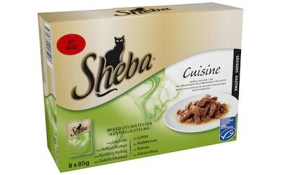 Sheba Cuisine kastikelajitelma 8x85g
