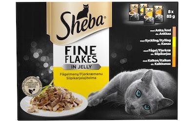 Sheba Delicato siipikarjalajitelma 8x85g