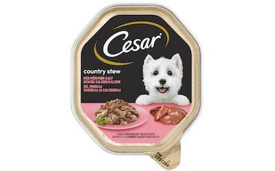Cesar Country kitchen 150g vasikkaa ja kalkkunaa kastikkeessa