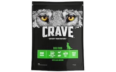 Crave koiran ruoka 1kg lammas härkä