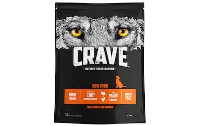 Crave koiranruoka 1kg kalkkuna kana