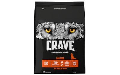 Crave koiran ruoka 2,8kg kalkkuna ja kana