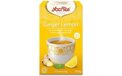 YogiTea ginger lemon teejuoma 17x1,8g luomu