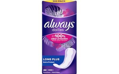 Always pikkuhousunsuoja Extra Protect Long Plus 44 kpl