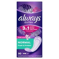 Always Fresh&Protect Normal pikkuhousunsuoja 30 kpl