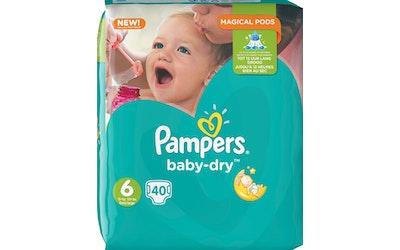Pampers 40kpl  Baby Dry 6 15+ kg