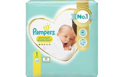 Pampers 22kpl Premium Protect New Baby teippivaippa 1 2-5kg