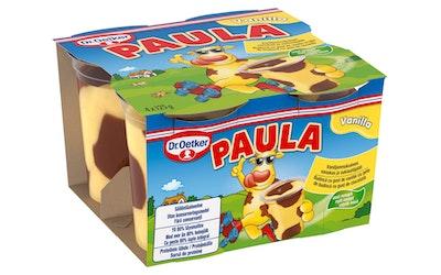 Dr. Oetker Paula Vaniljanmakuinen vanukas ja suklaatäplät 4x125g