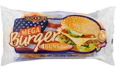 Quickbury jumbo burger sämpylä 4 kpl 300 g