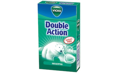 Vicks double action eucalyptus kurkkupastilli 40g sokeriton