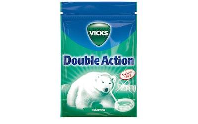 Vicks pastilli 72g double action sokeriton