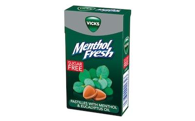 Vicks menthol fresh kurkkupastilli 40g sokeriton