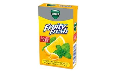 Vicks fruity fresh lemon kurkkupastilli 40g sokeriton