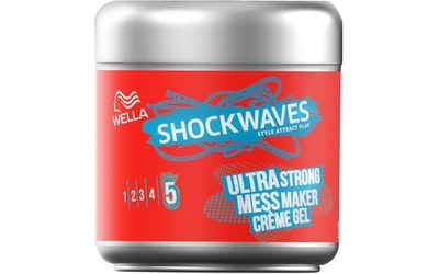 Wella Shockwaves 150ml Ultra Strong Mess Constructor Creme geeli