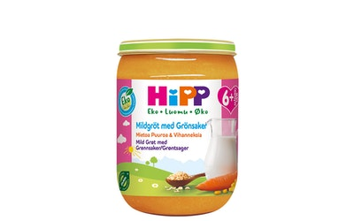 HIPP Hyvää Yötä! Mietoa puuroa ja vihanneksia 6kk 190 g luomu
